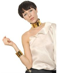 Givenchy Metallic Metal Layers Show Necklace