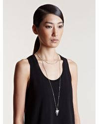 Givenchy - Metallic Small Shark Tooth Necklace - Lyst