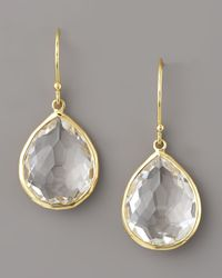 Ippolita | Metallic Clear Quartz Drop Earrings | Lyst