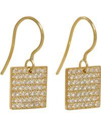Irene Neuwirth | Metallic Square Drop Earrings | Lyst