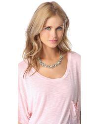 Juicy Couture Blue Rhinestone Bib Necklace