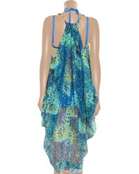 Matthew Williamson Multicolor Embellished Silkmousseline Dress