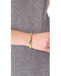 Michael Kors - Metallic Enamel Buckle Bracelet - Lyst