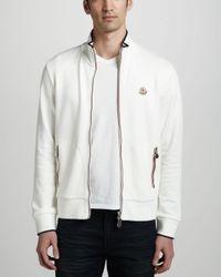 700459e16 Lyst - Moncler Flagtrim Track Jacket in White for Men