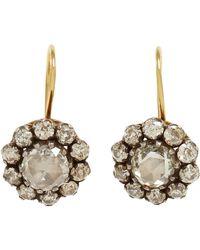 Olivia Collings - Metallic Diamond Cluster Earrings - Lyst