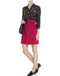 Sonia by Sonia Rykiel Red Wool Crepe Skirt
