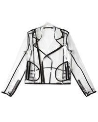Wanda Nylon - Multicolor Transparent Pvc Biker Jacket for Men - Lyst