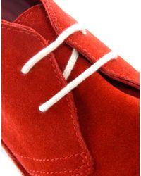 Kickers Red Kick Hi Patent Dark Pink Boot for men