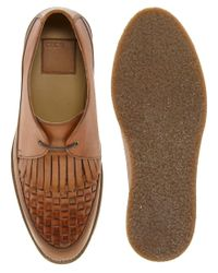 ASOS - Brown Fringe and Woven Detail Shoes for Men - Lyst