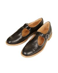 TOPSHOP Black Tbar Geek Shoes