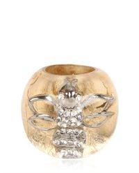Nicholas King Metallic Gold Bee Ring