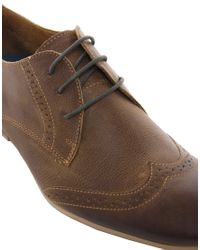 River Island - Brown Leather Brogue Shoes for Men - Lyst