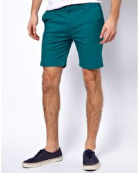 Volcom | Green Shorts Skinny Fit for Men | Lyst