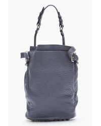 Alexander Wang - Dusty Purple Leather and Silver Studded Diego Bucket Bag - Lyst