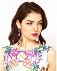 ASOS - Multicolor Rose Triple Drop Earring - Lyst