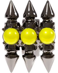 Mawi Yellow Studded Chunky Ring