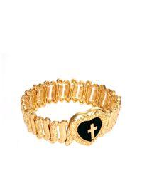 ASOS Collection - Metallic Asos Cross Heart Locket Bracelet - Lyst