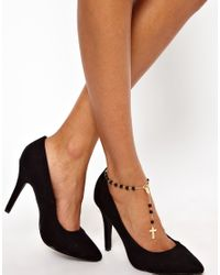 ASOS Collection Metallic Rosary Anklet