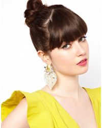 ASOS Collection - Natural Ornate Cut Out Earrings - Lyst