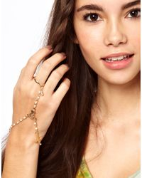 ASOS Collection - Metallic Asos Pearl Hand Harness - Lyst