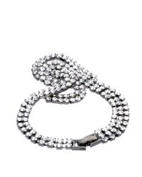 ASOS Collection - Metallic Stone Knot Bracelet - Lyst