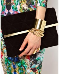 ASOS Collection - Metallic Asos Chunky Bracelets Rings Multipack - Lyst