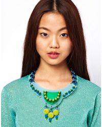 ASOS Collection - Multicolor Premium Perspex Necklace - Lyst
