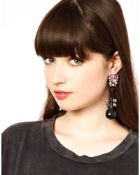 ASOS Collection - Pink Asos Jewel Bauble Earrings - Lyst