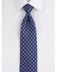 Brioni - Blue Geometricpattern Silk Tie for Men - Lyst