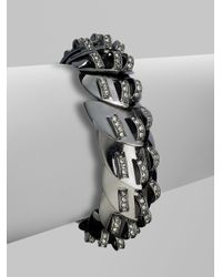 Giles & Brother | Gray Nara Paveacute Bracelet | Lyst