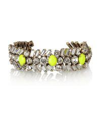 J.Crew - Yellow Crystal and Neon Chevron Bracelet - Lyst