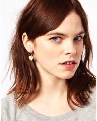 Zoe & Morgan | Metallic My Darling Heart Drop Earrings | Lyst