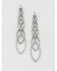 ABS By Allen Schwartz - Metallic Navette Linear Drop Earrings - Lyst