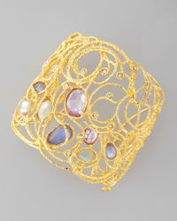Alexis Bittar - Metallic Mauritius Golden Lace Cuff Bracelet - Lyst