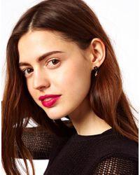 ASOS Collection - Black Asos Double Cross Stud Earrings - Lyst