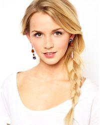 ASOS Collection - Multicolor Asos Colour Mismatch Earrings - Lyst