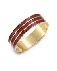 A.V. Max | Red Ribbed Enamel Bangle Bracelet | Lyst