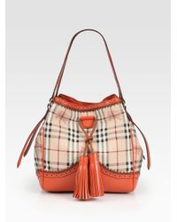 Burberry | Orange Small Tote Bag | Lyst