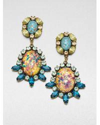 DANNIJO | Blue Paz Mottled Drop Earrings | Lyst