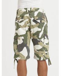 DIESEL Green Ensor B Shorts for men