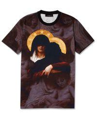 Givenchy Black Madonna Print Cotton Jersey T-Shirt for men