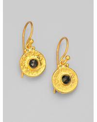 Gurhan - Metallic Black Diamond 24k Yellow Gold Droplet Earrings - Lyst