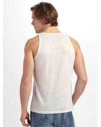 Joe's Jeans - White Linen Tank for Men - Lyst