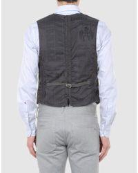 John Galliano Gray Waistcoat for men