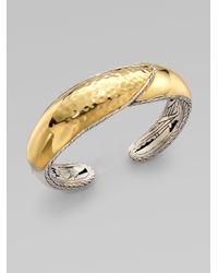John Hardy - Metallic 22k Gold Sterling Silver Kick Cuff Bracelet - Lyst