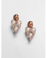 Joomi Lim | Pink Crystal Skull Stud Earrings | Lyst