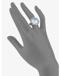 Judith Ripka - Blue Quartz Motherofpearl Sterling Silver 18k Yellow Gold Ring - Lyst