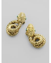 Kara Ross | Metallic Jeweled Snake Earrings | Lyst
