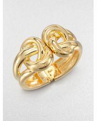 Kenneth Jay Lane | Metallic Double Knot Bracelet | Lyst