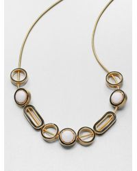 Kenneth Jay Lane - Twotone Slide Bead Necklace - Lyst